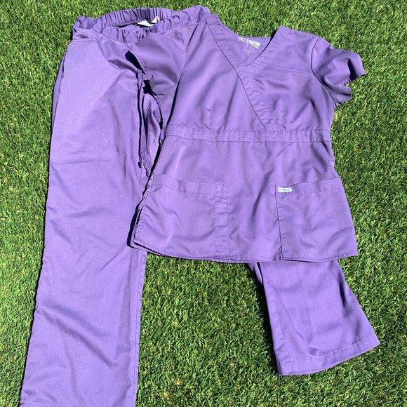 Grey's Anatomy Purple Scrub Set